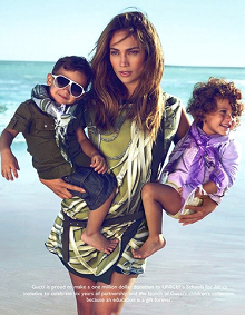 J-Lo and her twins for Gucci