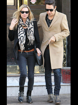 Kate Moss with her reported husband, Jamie Hince