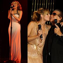 Kylie Minogue performs and Heidi Klum presenting with Roberto himself