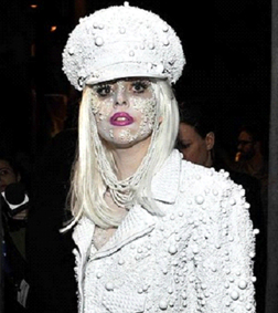 Lady Gaga looking ghoulish