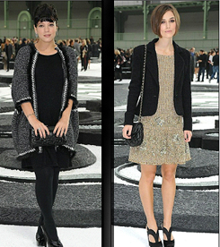 Lily Allen and Keira Knightley at Chanel