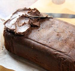Lovely Chocolately Cake - spread on the Ganache