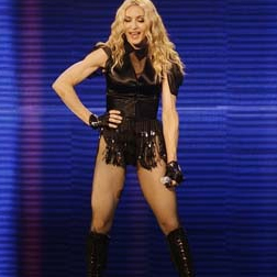 Madonna looking fit and maybe a bit too toned