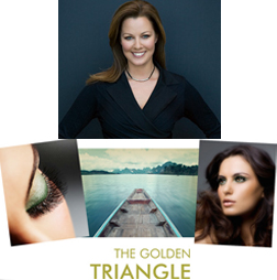 Sue Devitt and new the range - The Golden Triangle
