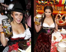 Kim Kardashian Hayden Panettiere Oktoberfest