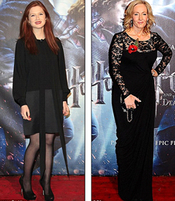 Bonnie Wright and J.K. Rowling