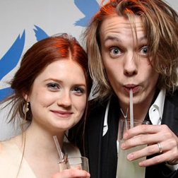 Bonnie Wright and her boyfriend Jamie Campbell Bower