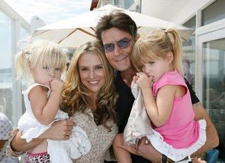 Charlie Sheen, Brooke Mueller and their two daughters