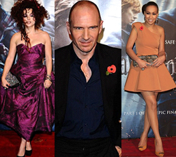 Helena Bonham Carter, Ralph Fiennes and Rebecca Ferguson