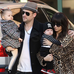 Joel Madden, Nicole Richie and their two children