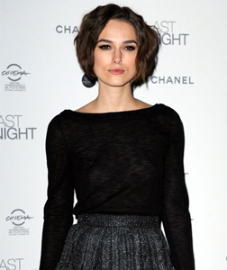 Keira Knightley in Rome for the premiere of Last Night