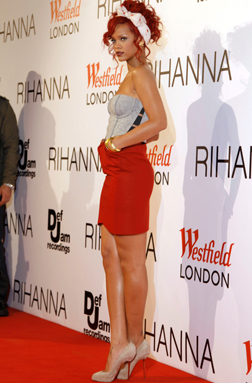Rihanna at Westfields