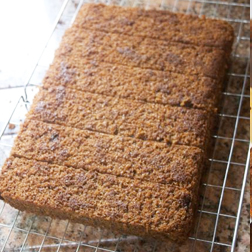 Sticky Ginger Cake leave to cool before storing