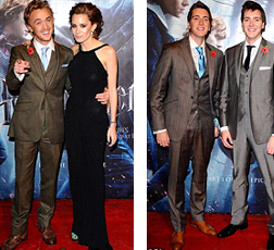 Tom Felton and Jade Olivia and James and Oliver Phelps