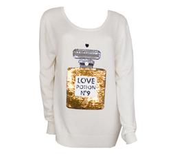 Wildfox Couture cream crew sweater