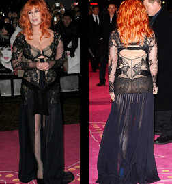 Cher at the Burlesque Premiere London