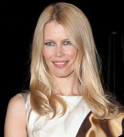 Claudia Schiffer at The British Fashion Awards