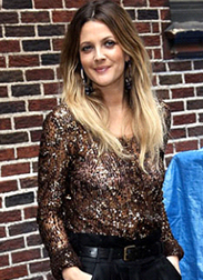 Drew Barrymore's Ombre hair style