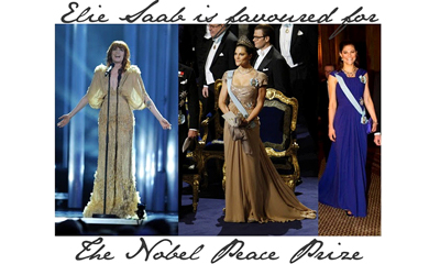 Elie Saab is the favourite for the Nobel Peace Prize