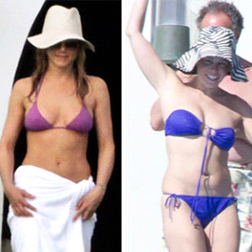 Jennifer Aniston and Chelsea Handler in Mexico