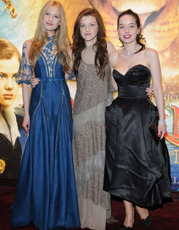 Laura Brent, Georgie Henley and Anna Popplewell