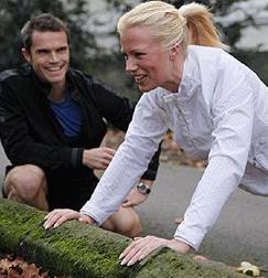 Matt Roberts, with his client Frida Haraldsson
