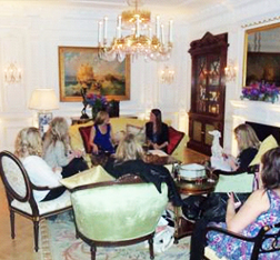 Our Cat Deeley interview in the Royal Suite at the Savoy