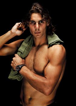 Rafael Nadal topless... Hubba. Hubba.