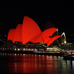 Sydney Opera lit red for World AIDS Day