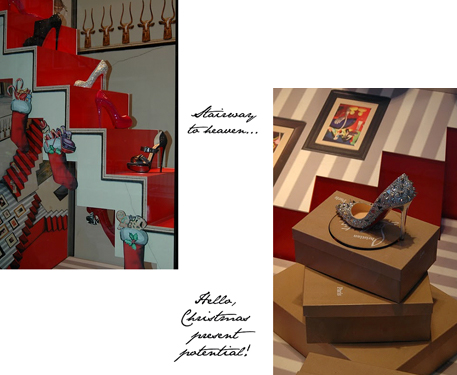 The Christmas Christian Louboutin window display