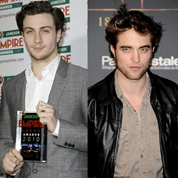 Aaron Johnson and Robert Pattinson