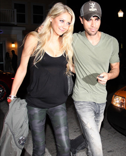 Anna Kournikova and Enrique Iglesias at Prime One Twelve in Miami late last year