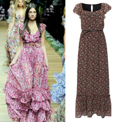 D&G SS11 and George at Asda Maxi Dress