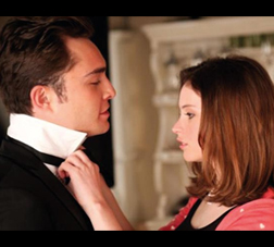 Ed Westwick and Felicity Jones in Chalet Girl