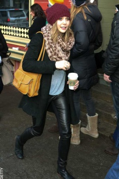 Elizabeth Olsen spotted at the Sundance Film Festival on 22 Janaury 2011