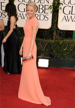Emma Stone at the 68th Golden Globes