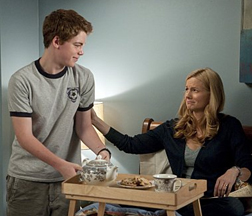 Gabriel Basso and Laura Linney in The Big C