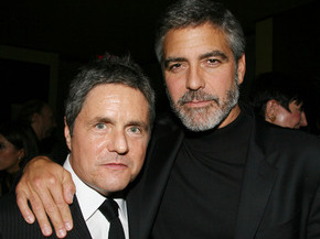 George Clooney and Paramount pictures Chairman, Brad Grey