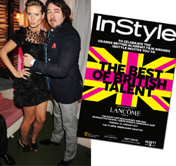 Heidi Klum and Jonathon Ross at InStyle's Best of British Talent Party