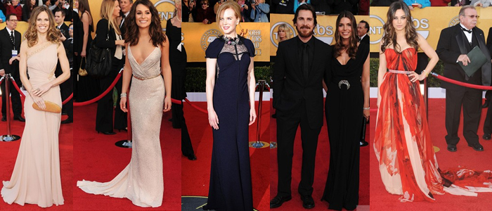 Hilary Swank , Lea Michele, Nicole Kidman, Christian Bale and his wife and Mila Kunis