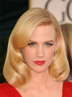 January Jones at the Golden Globes