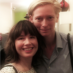 Katie Puckrik and Tilda Swinton