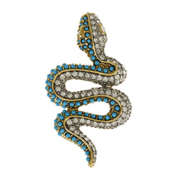 Kenneth Jay Lane 22-karat gold-plated Snake Brooch
