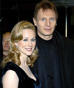 Laura Linney and Liam Neison