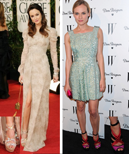Leighton Meester wearing Zafira and Diane Kruger wearing Vivienne