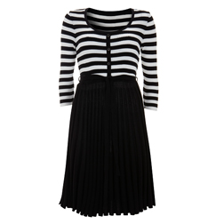 Monochrome Knit Dress