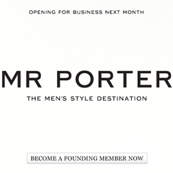 <b>Mr Porter's Open For...</b>