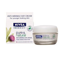 NIVEA Pure & Natural Facial Anti-Wrinkle Day and Night Care