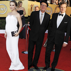 Natalie Portman and Geoffrey Rush and Colin Firth