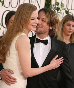 Nicole Kidman and Keith Urban at the 68th Golden Globes